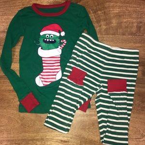 Lands End Christmas pajamas.  Size 8.